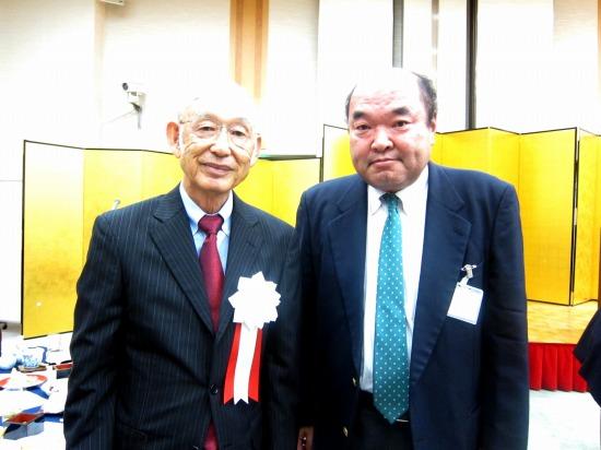 2011.関西学院同窓会枚方支部でアメリカンフットボール部の武田建先生に会いました