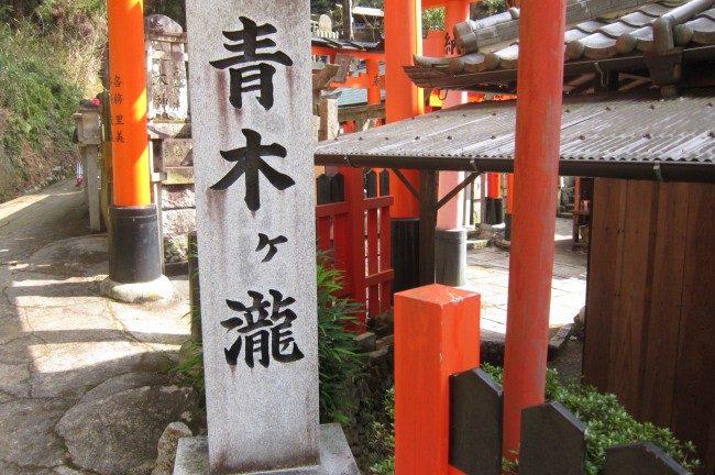 京都 伏見の青木の滝から伏見大社
