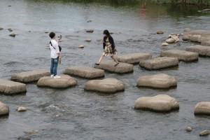 京都鴨川のどかな風景です